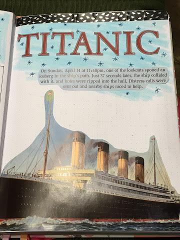 Titanic bullet journal for April 2020
