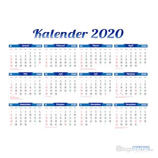 Template Kalender 2020 Vector (.cdr,Ai)