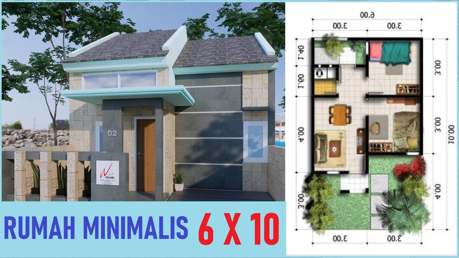 Desain Rumah Minimalis Sederhana 6x10 Desain Rumah Minimalis