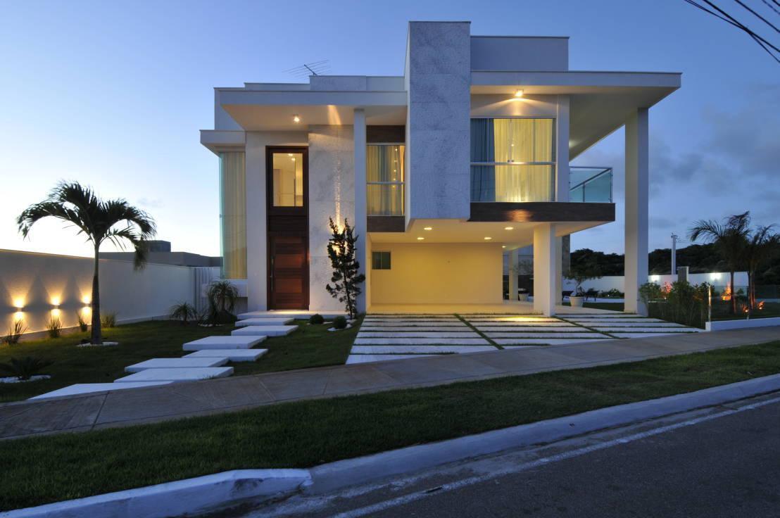 Construindo minha casa clean fachadas de casas revestidas for Fachadas de casas modernas 1 pavimento