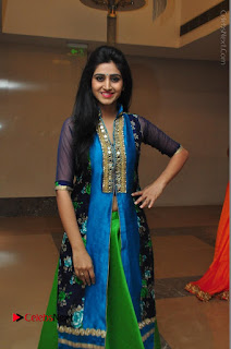 Actress Model Shamili Sounderajan Pos in Desginer Long Dress at Khwaaish Designer Exhibition Curtain Raiser  0054.JPG