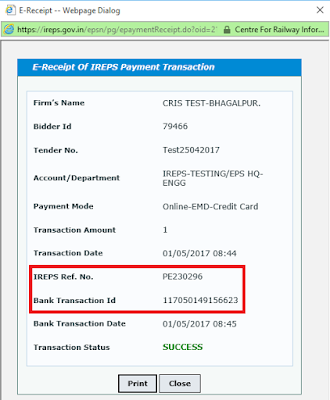 Works Tender TDC Payment Using Credit Card 27