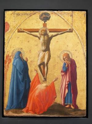 """""""Crucifixion"""",Tommaso Masaccio, 1426. Tempera and gold on panel"""