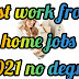 Best work from home jobs 2021 no degree