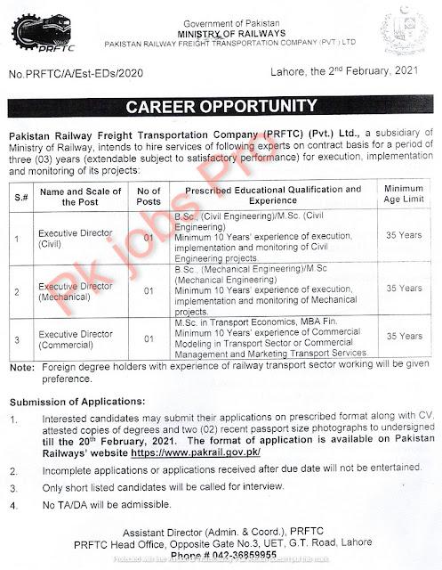 Pakistan Railway Jobs For Freight Transportation Company