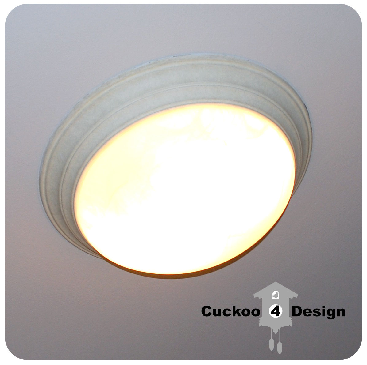 Homegoods clearance bowl as diy ceiling fixture cuckoo4design ugly standard builders ceiling fixture aloadofball Choice Image