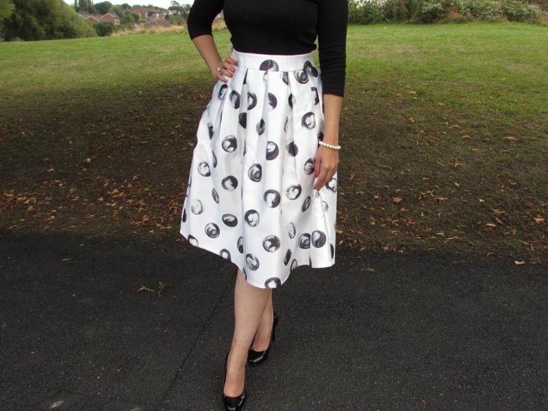 50's inspired midi skirt