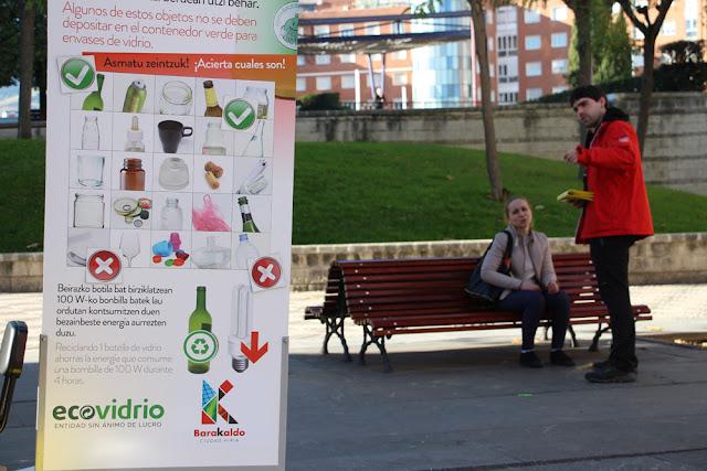 Campaña informativa sobre el reciclaje de vidrio