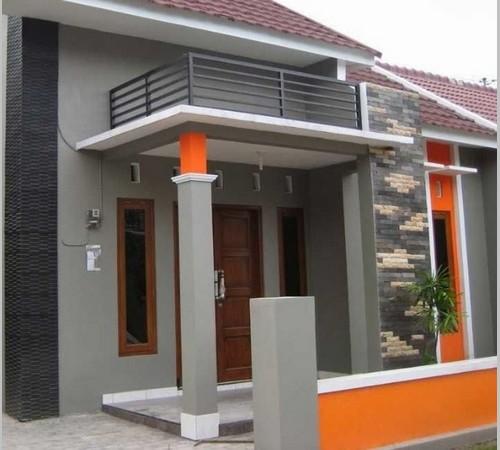 Desain Tiang Teras Rumah Modern Bagian Eksterior Depan