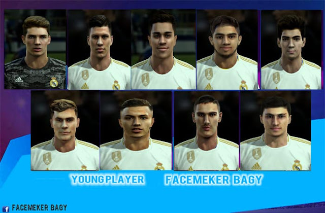 Young Player Facepack v19 2020 For PES 2013