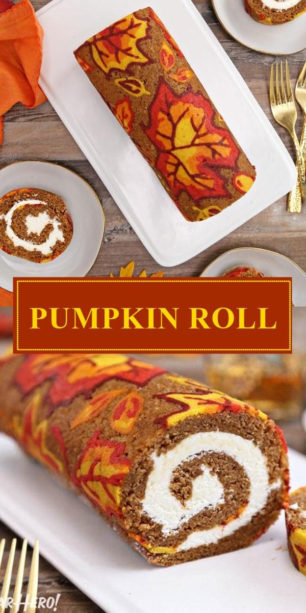 PUMPKIN ROLL RECIPE #halloweenrecipes