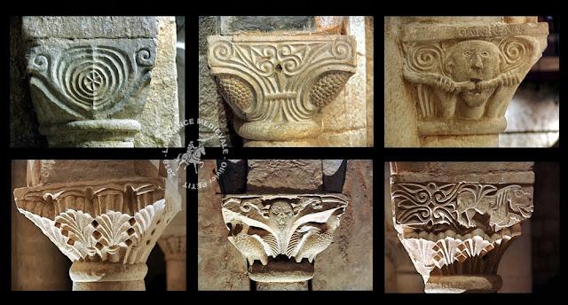 CRUAS (07) - Chapiteaux romans de l'abbatiale Sainte-Marie