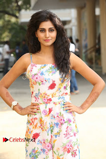 Actress Shamili Stills in Floral Short Dress at Sree Ramaraksha Song Launch 0055