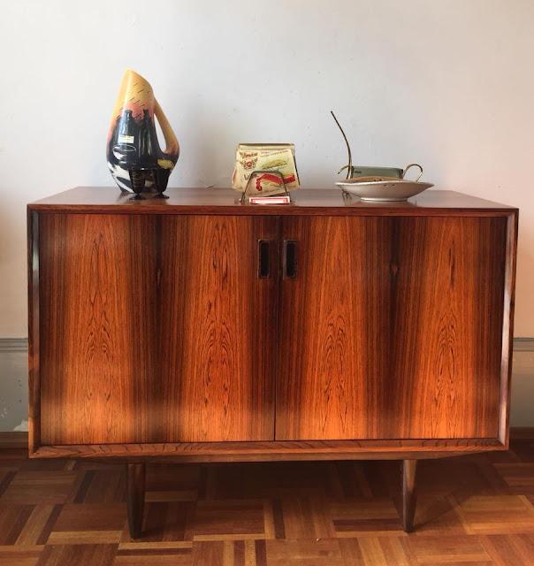 design nórdico, aparador, pau santo, vintage