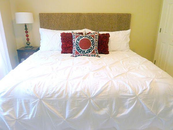 ديكور لرأس السرير مصنوع بحبل من القنب