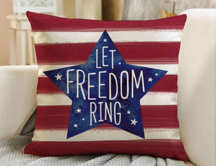 Let Freedom Ring Pillow