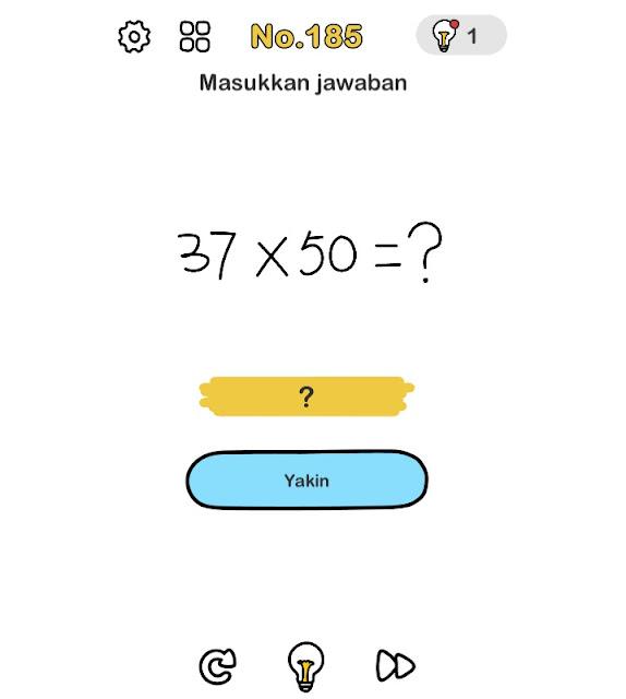 Masukkan jawaban 37x50=?