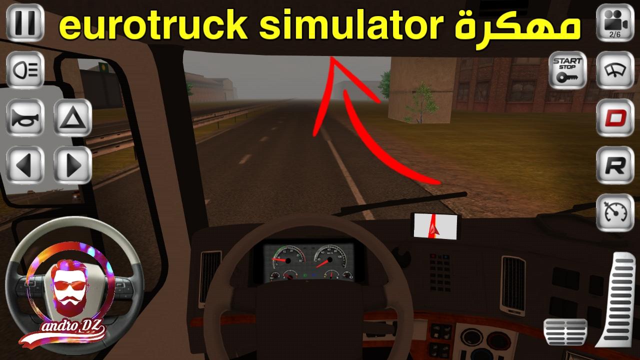 تحميل لعبة euro truck simulator 2 للاندرويد مهكرة