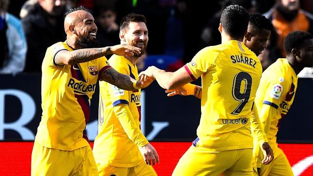 فيدال يهدي فوز صعب لبرشلونة أمم ليغانيس