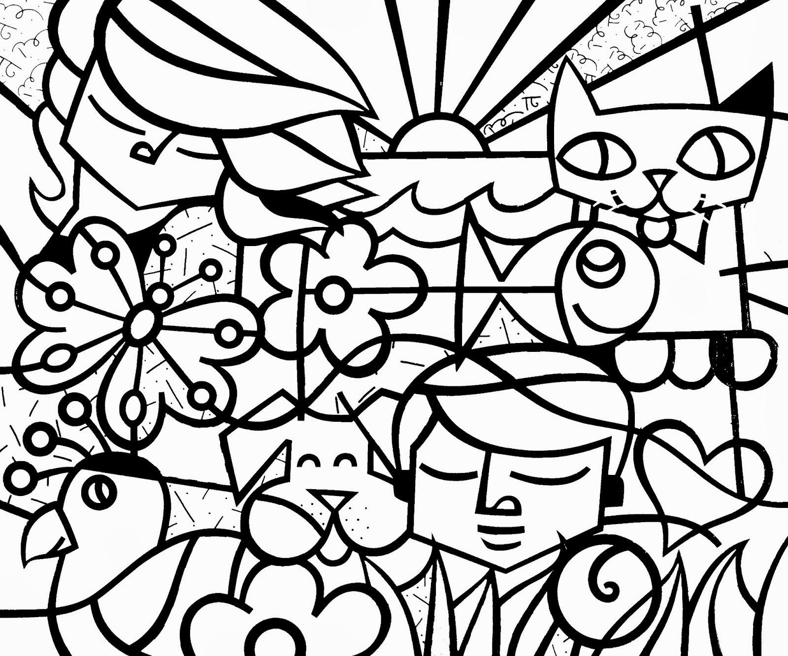 Jogo Desenhos De Romero Brito Para Colorir No Jogos Online Wx