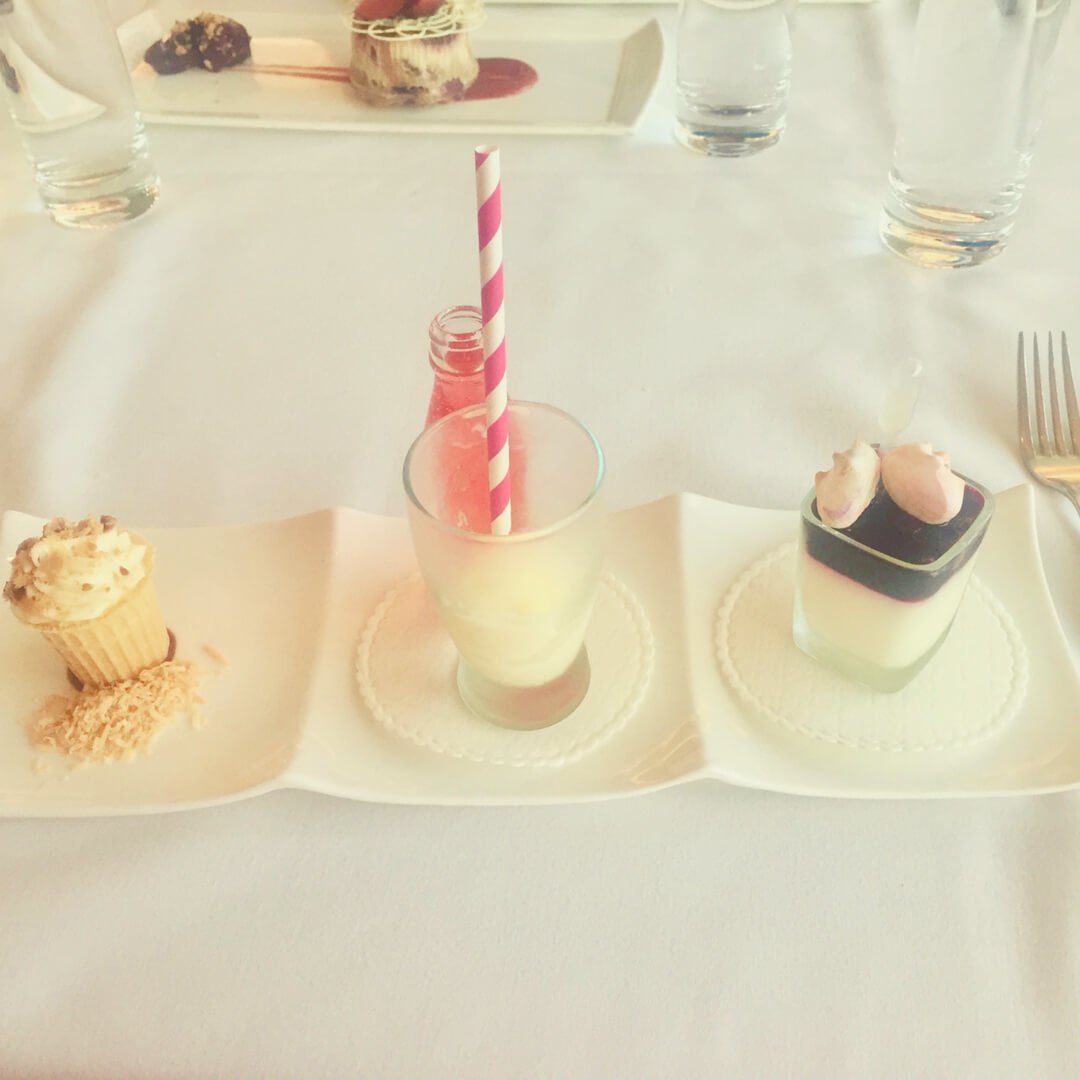 Three mini desserts from California Grill at Contemporary Resort in Walt Disney World
