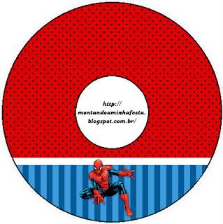 Etiqueta CD´s para  Imprimir Gratis de Spiderman.