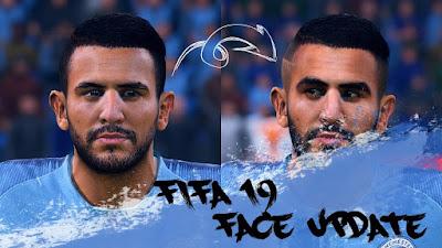 FIFA 19 Faces Riyad Mahrez by CrazyRabbit