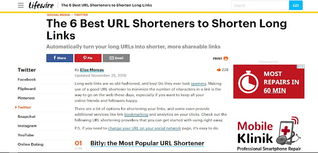 https://www.lifewire.com/shortening-long-links-3486603
