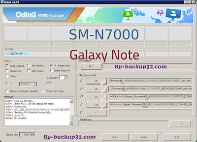سوفت وير هاتف Galaxy Note موديل SM-N7000 روم الاصلاح 4 ملفات تحميل مباشر