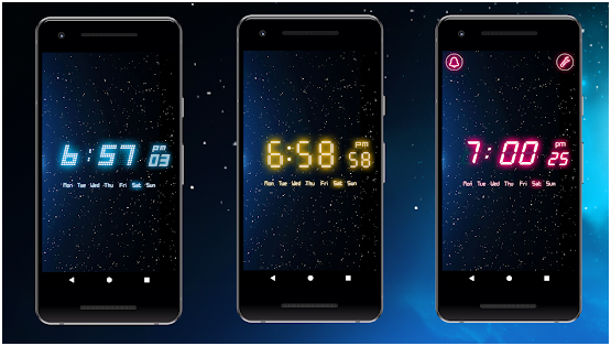 6. Neon Alarm Clock (by Mobile Rise)