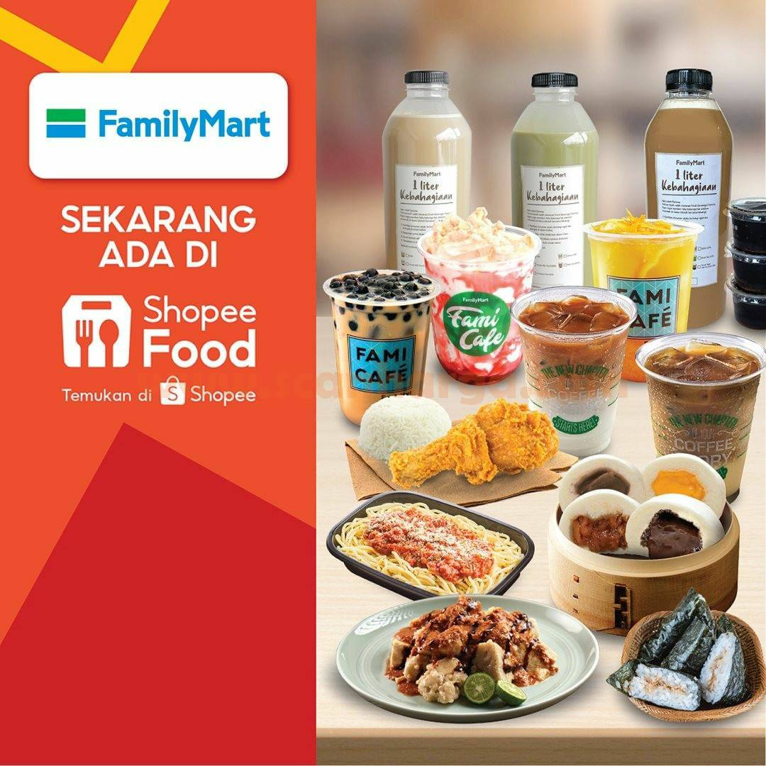 Family Mart Available Now on Shopee Food