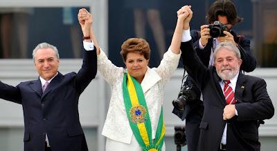 Resultado de imagem para Eles quebraram o Brasil - dilma lula e temer