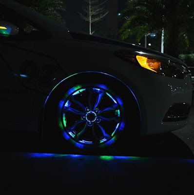 Colorful Light Car Tyre