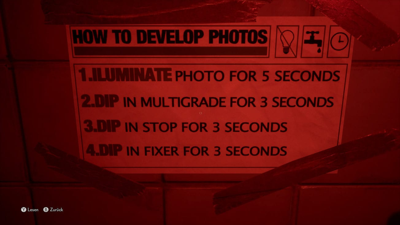 The Medium: How to Develop Photos - Solution