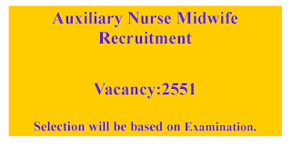 ANM Nurses Recruitment- 2551 Vacancies in Madhya pradesh