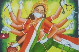 Covid-19 Kian Mengganas, Warga India Mulai Pasrah dan Sembah 'Dewi Corona'
