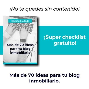 Más de 70 ideas para tu blog inmobiliario