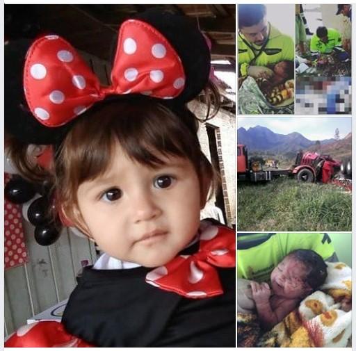Bebê que sobreviveu à grave acidente na BR 116, comemora 1 ano de vida
