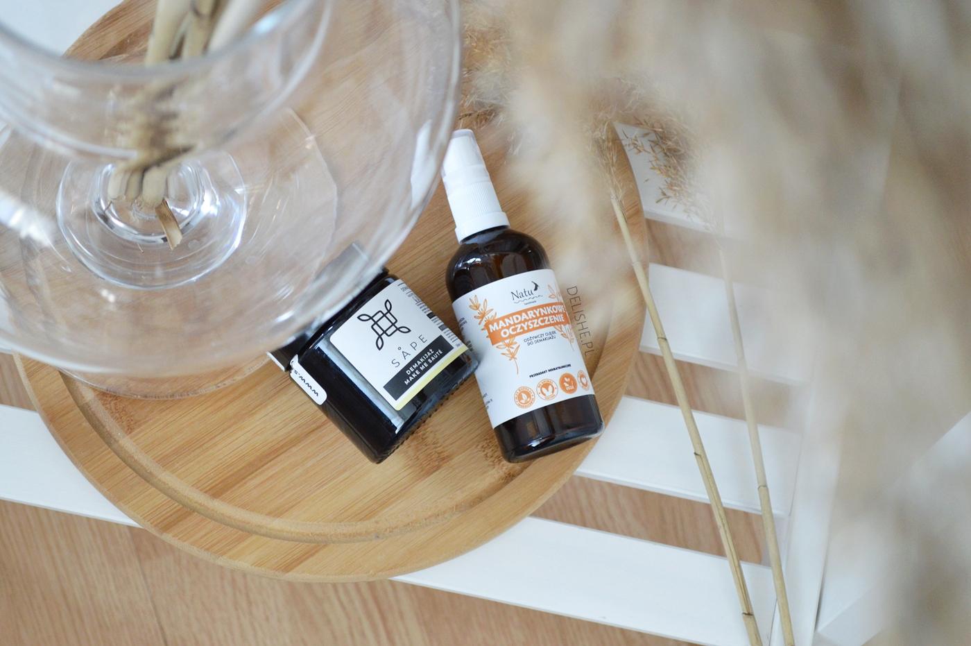 olejek do demakijażu sape i olejek natu handmade