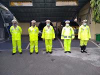 Antisipasi musim penghujan,satlantas polres Ponorogo siapkan anggota berjas hujan