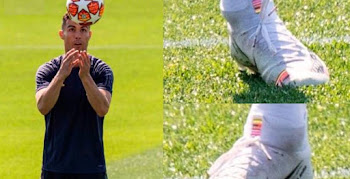 11ac25e99d09 One Of Three Players - Cristiano Ronaldo Trains In Nike Mercurial Superfly  360