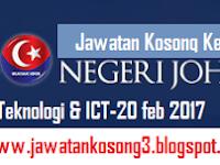 Jawatan Kosong Johor di Bahagian Sains Teknologi dan ICT Negeri Johor 20 Februari 2017