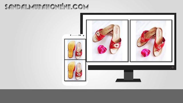 Grosir Sandal Murah Online | Sandal Wanita Cabelli Karet Murah