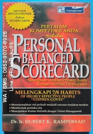 Buku Personal Balance Scorecard By Dr Ir Hubert K Rampersad