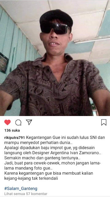 Viral Cowok SALAM GANTENG paling tamvan sedunia - Fb Riki Hardiansyah Putra (Alryzha)