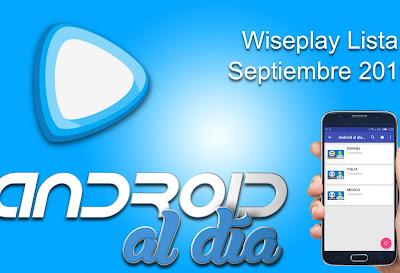 Lista de canales Wiseplay - Septiembre 2019