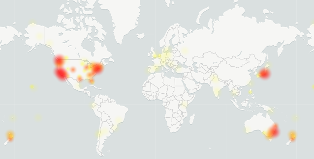 Gmail down map