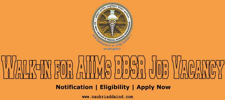 AIIMs BBSR Job Vacancy