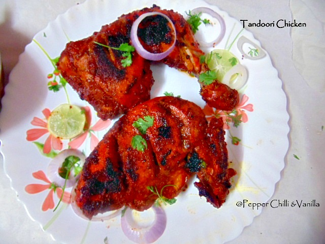 restaurant style tandoori chicken recipe,how to make tandoori chicken on gas