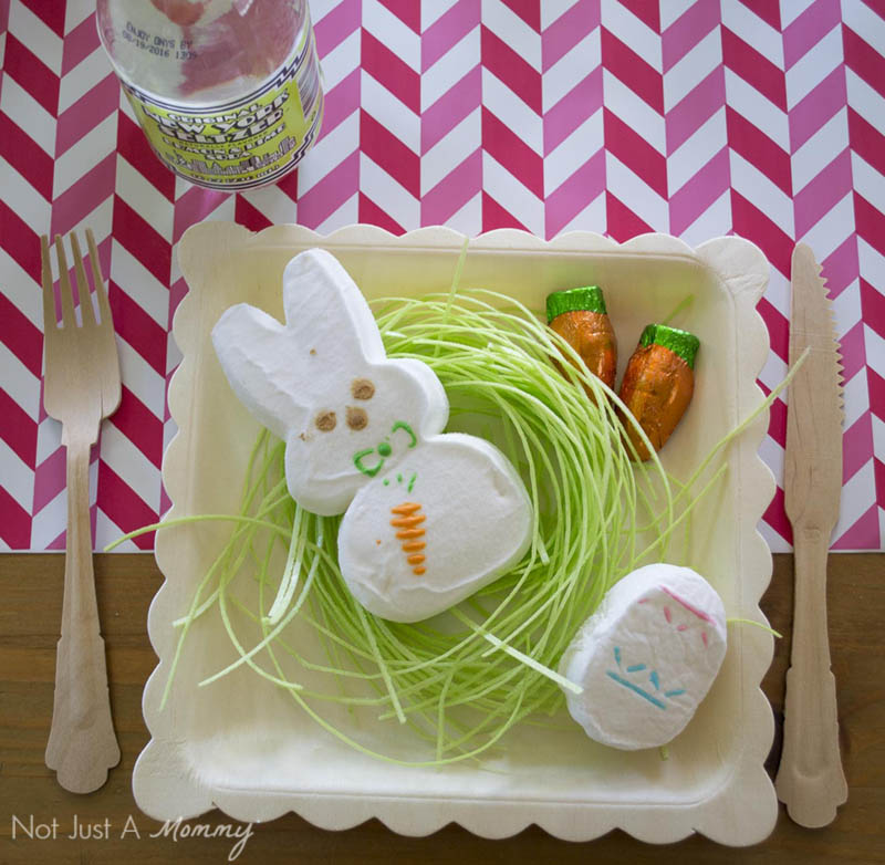 How To Style A Easter Table; Bunny Peep placesetting